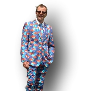 Wacky Suits - £150 - Crazy Suits - Quality Tailored Suits 100% cotton Luxuriously Lined Next Day Delivery. Buy a bit of nuttiness.